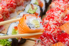 Philadelphia sushi roll Royalty Free Stock Photos