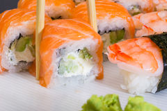 Philadelphia sushi roll Stock Images