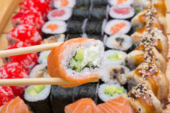 Philadelphia sushi roll Royalty Free Stock Photo