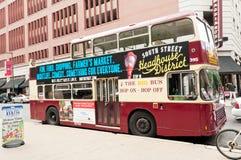 Philadelphia tour bus in downtown Stock Photos