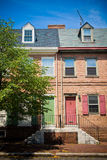 Philadelphia Townhomes Stock Image