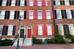 Philadelphia townhouses Royalty Free Stock Image