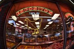 PHILADELPHIA, USA - 24. April 2017 - Philadelphia wenig Italien-Bezirk mit Shops und Restaurants Lizenzfreies Stockbild