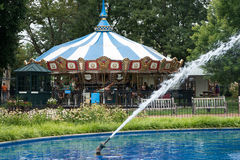 PHILADELPHIA, USA - AUGUST 12: Franklin Square in Center City Philadelphia on August 12, 2017 Royalty Free Stock Photography