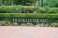PHILADELPHIA USA - AUGUSTI 12: Franklin Square i mittstaden Philadelphia på Augusti 12, 2017 Royaltyfri Fotografi