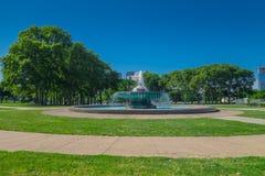 PHILADELPHIA, USA - NOVEMBER 22, 2016: Fountain at Logan Circle, downtown Philadelphia, Pennsylvania, USA Stock Photo