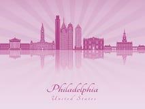 Philadelphia V3 skyline in purple radiant orchid Stock Photography