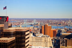 Philadelphia view from the height Stock Images