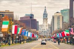 Philadelphias stadshus Fotografering för Bildbyråer