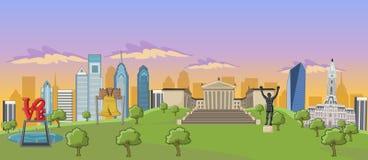 philadelphie illustration stock