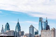 Philadelphie, la Pennsylvanie, les Etats-Unis - décembre 2018 - vue de l'horizon et l'OS supérieur les bâtiments photo stock