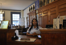 Philadelphie, le 4 août : Premier bureau de poste d'intérieur des Etats-Unis à Philadelphie de Pennsylvanie Image libre de droits