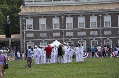 Philadelphie, PA, le 3 juillet : Célébration de ville de Philadelphie en Pennsylvanie Etats-Unis Images libres de droits
