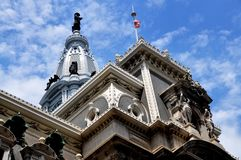 Philadelphie, PA : Ville hôtel d'arts de beaux Image libre de droits