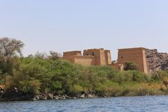 Philae寺庙阿斯旺,埃及 库存图片