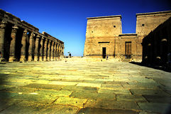 philae寺庙 免版税图库摄影