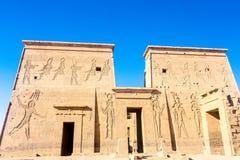 Philae świątynia w Aswan na Nil w Egipt zdjęcia stock