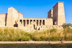 Philae świątynia w Aswan na Nil w Egipt obraz stock