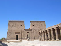 Philae egyptian temple. And its hieroglyphs - Assouan - Egypt Stock Image