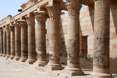 Philae Isis temple. Isis temple on Philae island, Egypt royalty free stock photo