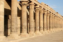 Philae Isis Temple Courtyard Royalty Free Stock Photos
