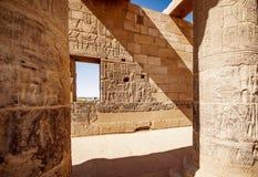 Philae Isis Temple em Aswan perto de Luxor Egito fotos de stock royalty free