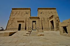 Philae island - Egypt. Philae island - Aswan in south Egypt royalty free stock images
