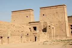 Philae Island Isis Temple Royalty Free Stock Images