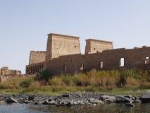 Philae Tempel Aswan Ägypten lizenzfreie stockbilder