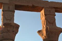 Philae tempel av isis royaltyfria bilder