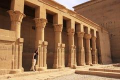 Philae tempel, sjö Nasser Royaltyfri Foto
