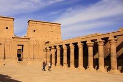Philae tempel, sjö Nasser Fotografering för Bildbyråer