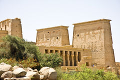 Philae Temple. Details of Egyptian art: Philae temple Stock Images