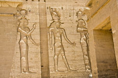 Philae Temple. Details of Egyptian art: Philae temple Royalty Free Stock Photo