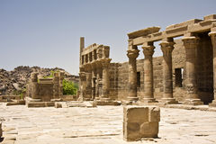 Philae temple. Details of Egyptian art. An example of the art of the pharaohs Royalty Free Stock Images