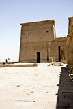 Philae temple. Details of Egyptian art. An example of the art of the pharaohs Royalty Free Stock Photography