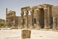 Philae temple. Details of Egyptian art. An example of the art of the pharaohs Stock Photography
