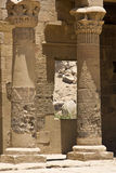 Philae temple. Details of Egyptian art. An example of the art of the pharaohs Royalty Free Stock Image