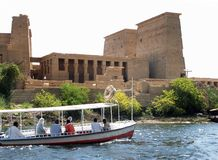 Philae Temple. Cruising the Nile river, Egypt Stock Image