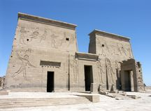 Philae Temple. The Ptolemaic Philae Temple of the Isis, Egypt Stock Photography