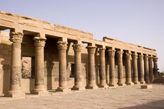 Philae temple. Aswan, the philae temple with its wonderful structure Stock Image