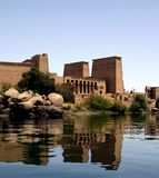 Philae temple. Egypt: Philae temple from nile royalty free stock photos