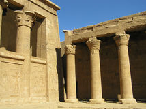 Philae temple. This is a part of the Philae temple located on Nasser Lake near Aswan, Egypt. Instead of many other temples which were originally located in the Stock Photos