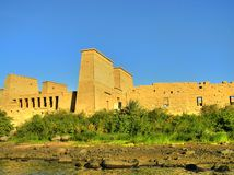 Philae temple. This is a part of the Philae temple located on Nasser Lake near Aswan, Egypt. Instead of many other temples which were originally located in the Stock Photography