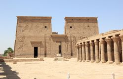 The Philae Temple, on Agilkia Island. Egypt. Royalty Free Stock Photography