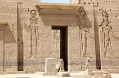 The Philae Temple, on Agilkia Island. Egypt. Stock Photos