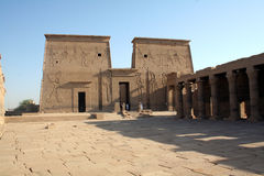 "Philae Temple - Ancient Egyptian Monument. The ancient Egyptians called the Philae islands ""P-aaleq"" which has the dual meaning of end and creation. In 1902 Royalty Free Stock Photos"