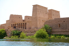 The Philae temple at Aswan, Egypt Stock Photography