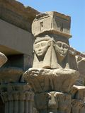 Philae Temple, Egypt. Top of the pillar in the Philae Temple, Egypt Royalty Free Stock Photo