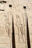 Philae Temple in Egypt. Sunny illuminated Temple of Philae in Egypt (Africa Stock Photo